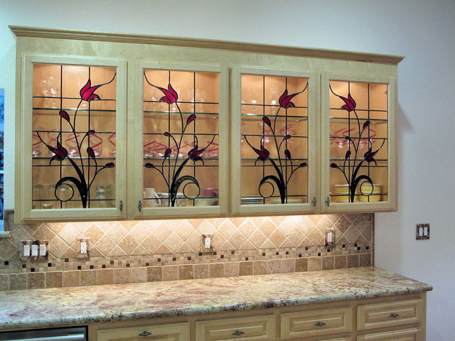 Kitchen Cabinet Stained Glass Inserts Best Kitchen Images Within